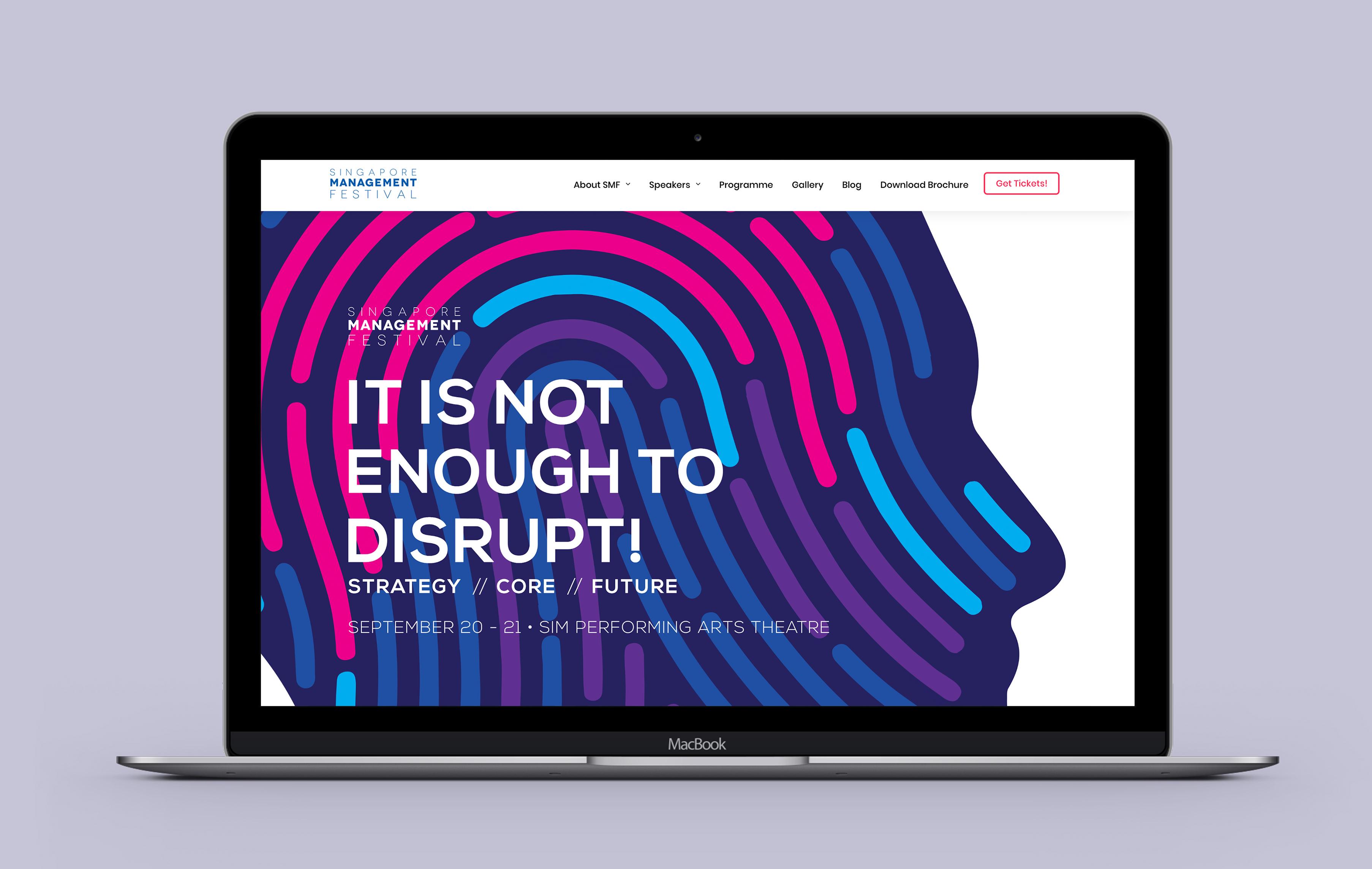 SIM desktop web design portfolio