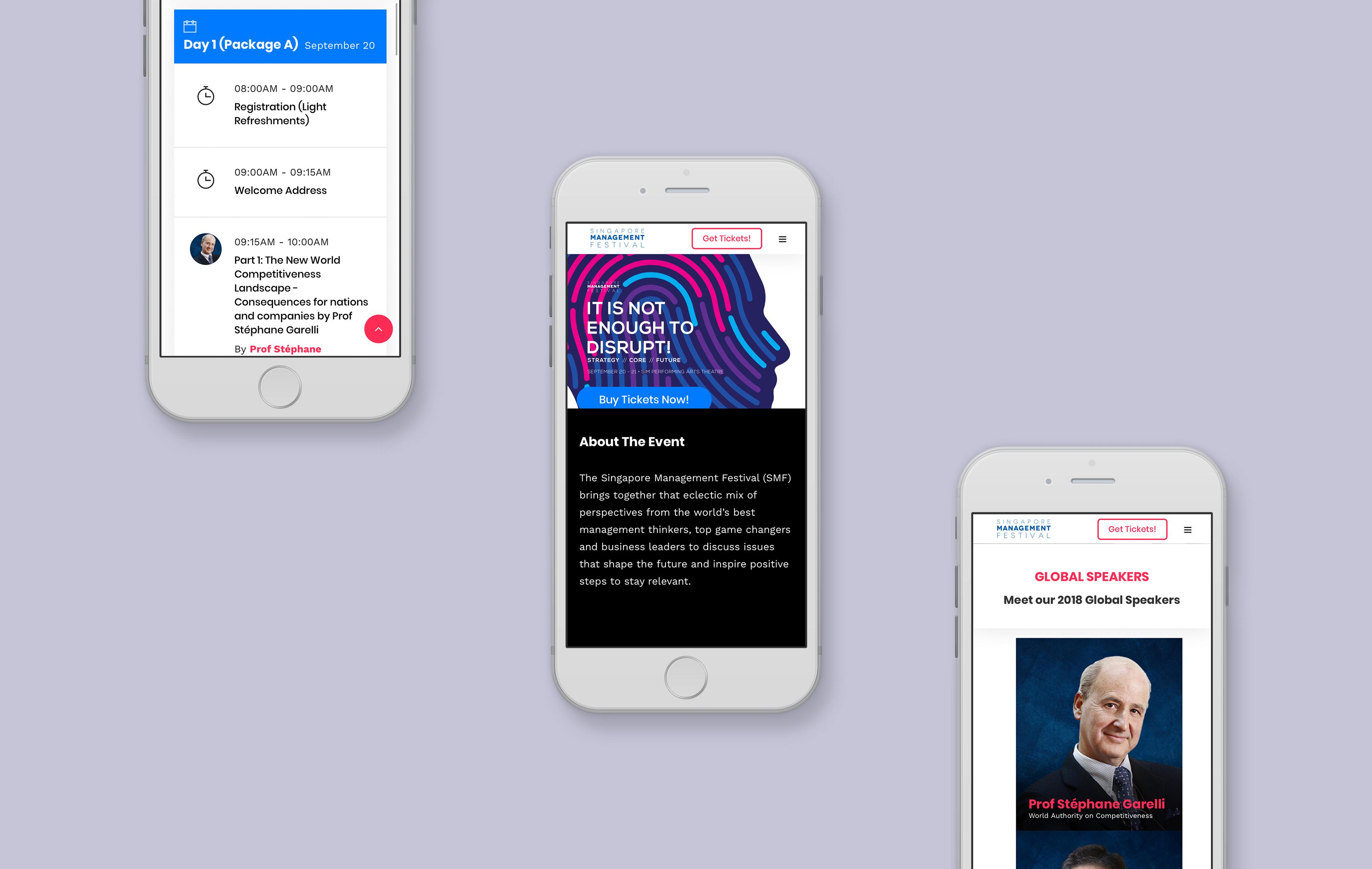 SIM mobile web design portfolio