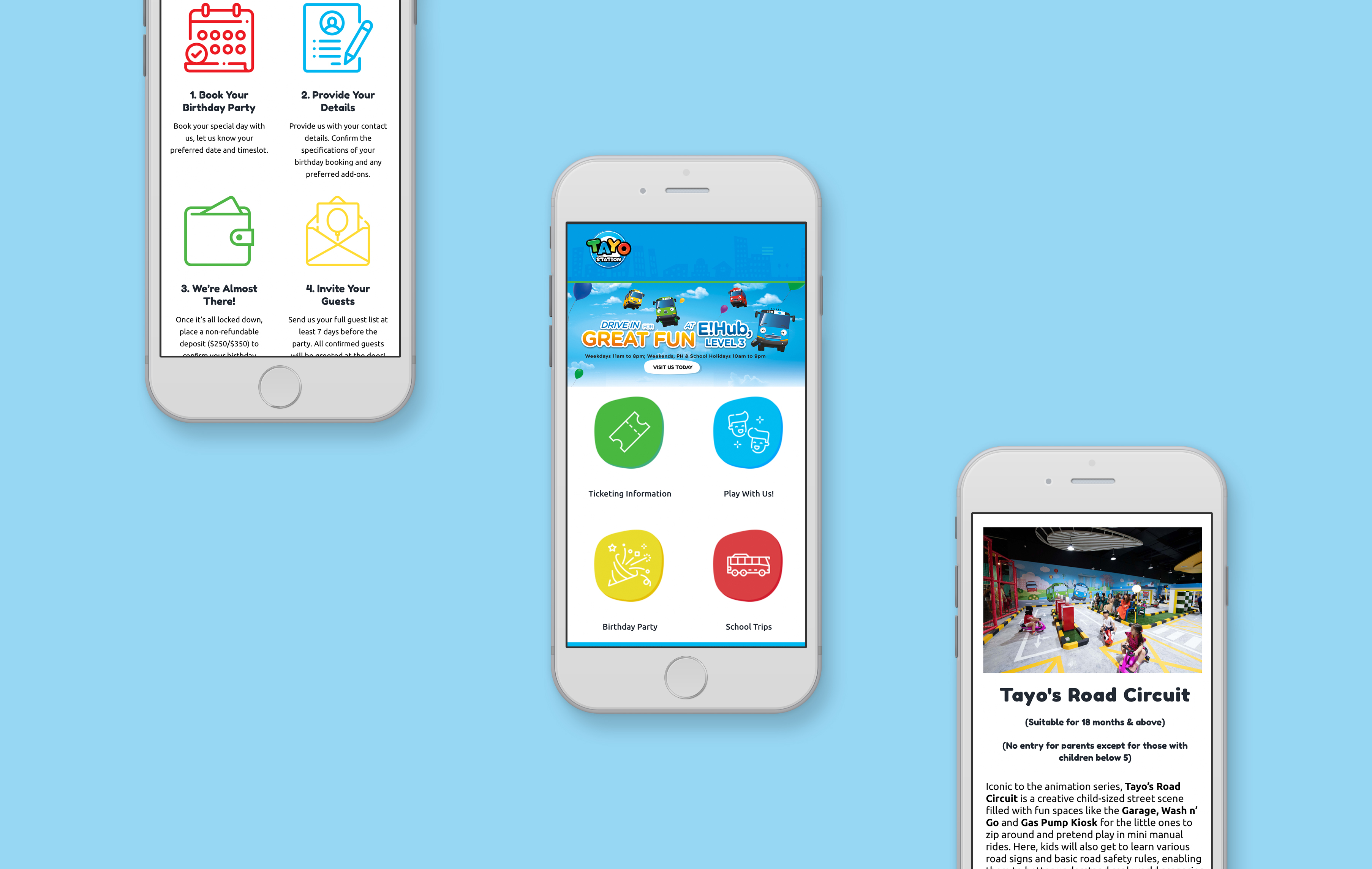Tayo Station mobile web design portfolio