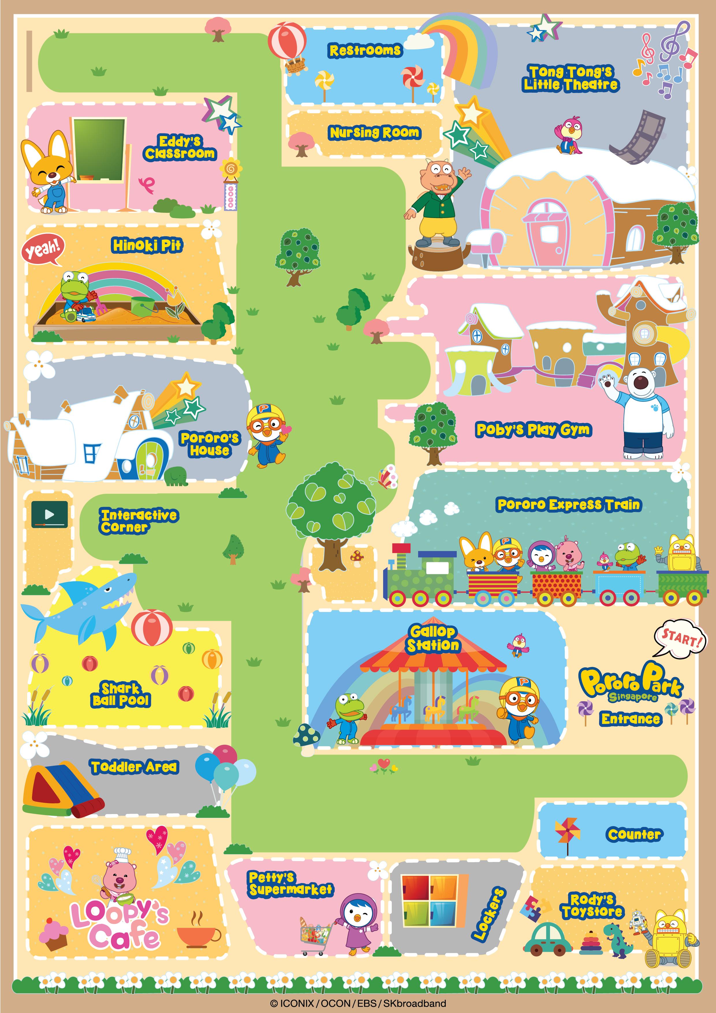 Vicinity Map at Pororo Park Singapore