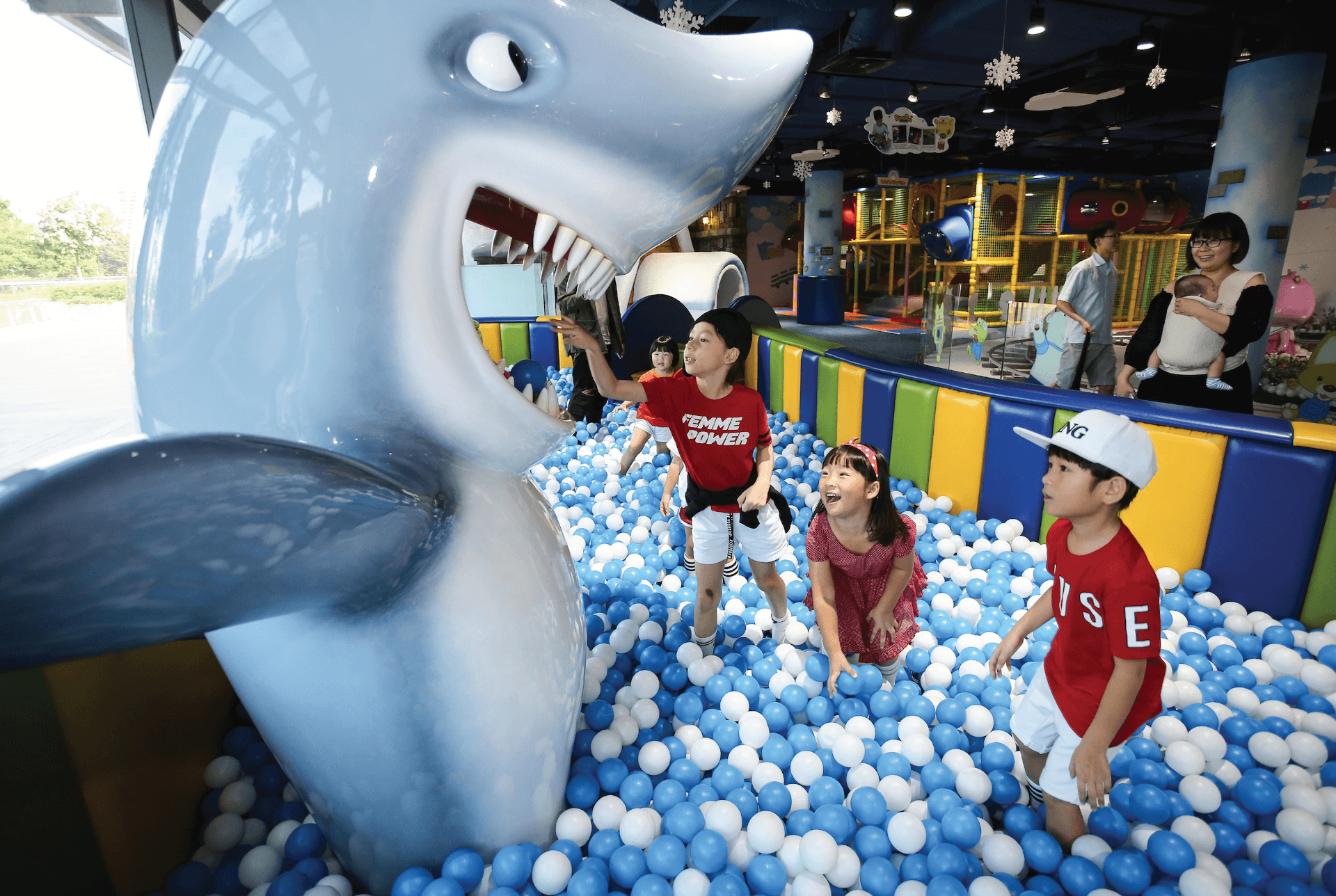 Shark Ball Pool Attraction at Pororo Park Singapore