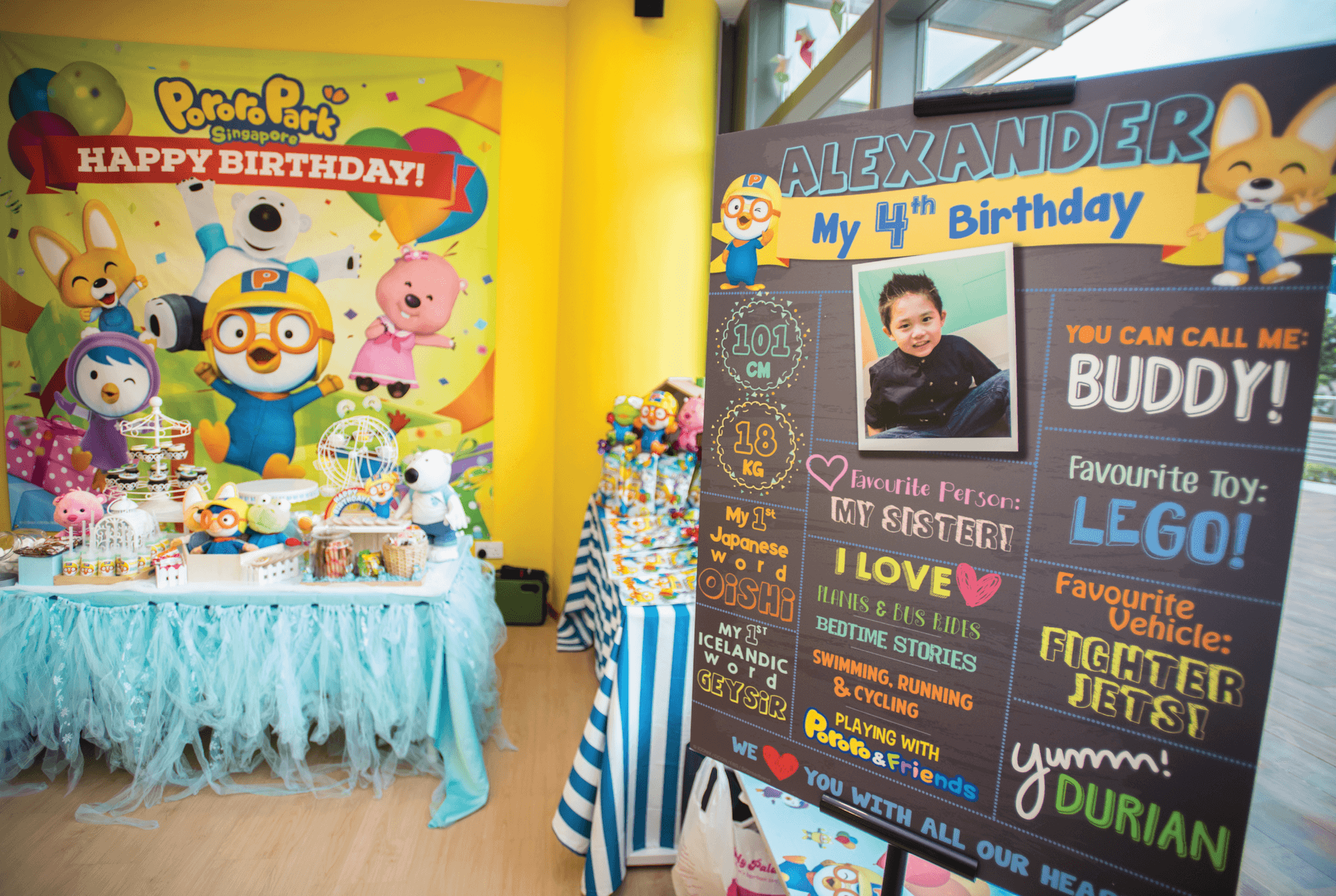 Birthday Party Add-Ons - Personalisation Board | Pororo Park Singapore