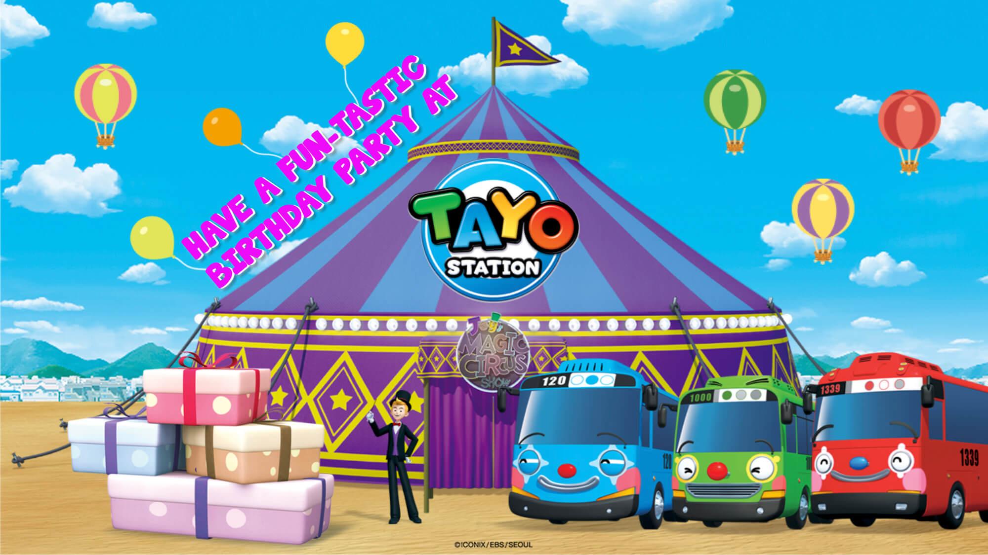 Birthday Party Tayo Station